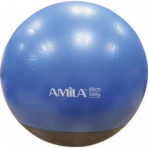 Μπάλα γυμναστικής AMILA GYMBALL 65cm Κόκκινη με Βάρος στην Βάση
