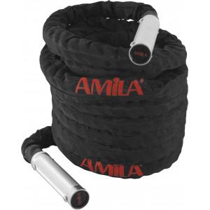 Battle Rope με χερούλια αλουμινίου (9m)