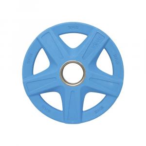 Δισκος με Επενδυση Λαστιχου 50mm 5,00kg Μπλε