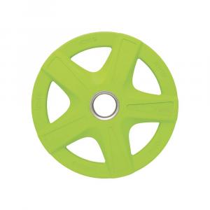 Δισκος με Επενδυση Λαστιχου 50mm 10,00kg Πρασινος
