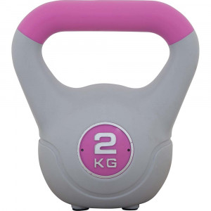 Kettlebell με επένδυση βινυλίου 2kg (Ροζ)