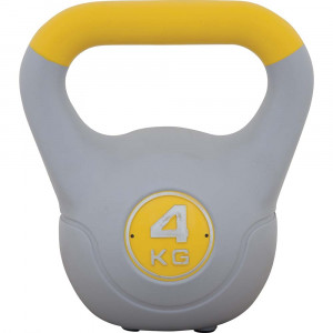 Kettlebell με επένδυση βινυλίου 4kg (Κίτρινο)