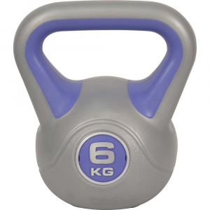 Kettlebell με επενδυση βινυλιου 6kg (Μωβ)