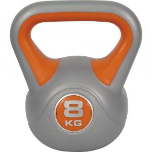 Kettlebell με επενδυση βινυλιου 8kg (Πορτοκαλι)