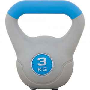 Kettlebell με επένδυση βινυλίου 3kg (Μπλε)