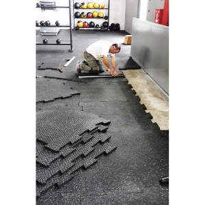 Λαστιχενιο πατωμα, πλακακι, λειο, 100x100cm, παχους 20mm