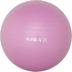 Μπάλα Γυμναστικής AMILA GYMBALL 55cm Ροζ