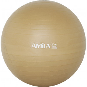 Μπάλα Γυμναστικής AMILA GYMBALL 55cm Χρυσή