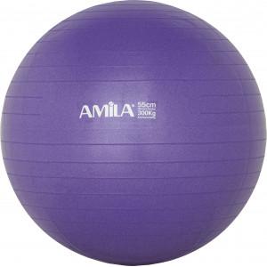 Μπάλα Γυμναστικής AMILA GYMBALL 55cm Μωβ