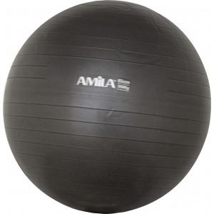 Μπάλα Γυμναστικής AMILA GYMBALL 65cm Μαύρη