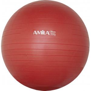 Μπάλα Γυμναστικής AMILA GYMBALL 65cm Κόκκινη