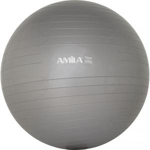 Μπάλα γυμναστικής AMILA GYMBALL 75cm Γκρι