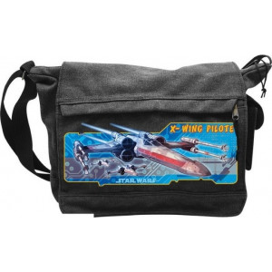 ABYSSE STAR WARS - X-WING SPACE SHIP MESSENGER BAG