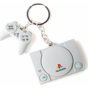 DIFUZED PLAYSTATION - CONSOLE & CONTROLLER 3D RUBBER KEYCHAIN (KE880218SNY) 8718526114553