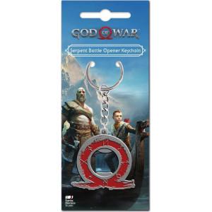 GAYA GOD OF WAR: SERPENT LOGO KEYCHAIN BOTTLE OPENER (GE3492)