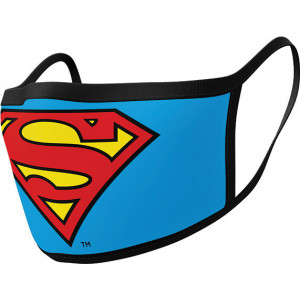 PYRAMID DC SUPERMAN LOGO FACE MASK 2PCS (GP85559)