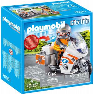 PLAYMOBIL CITY LIFE ΔΙΑΣΩΣΤΗΣ ΜΕ ΜΟΤΟΣΥΚΛΕΤΑ (70051)
