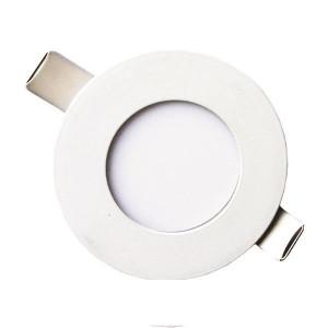 ΦΩΤΙΣΤΙΚΟ ΧΩΝΕΥΤΟ LED SLIM  Φ85 LED 3W 4000K ΛΕΥΚΟ PLUS 145-68601