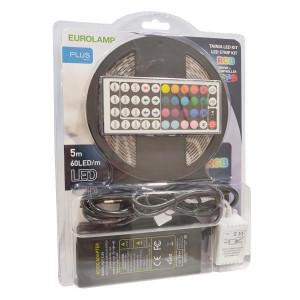 ΤΑΙΝΙΑ LED ΚΙΤ 5 ΜΕΤΡΩΝ 14,4W+DRIVER+CONTROLLER 12V RGB IP44 BLISTER PLUS 145-70041