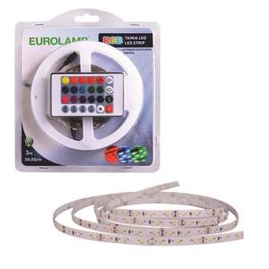ΤΑΙΝΙΑ LED 3 ΜΕΤΡΩΝ 10W+DRIVER+CONTROL 12V RGB IP20 BLISTER 147-70011