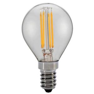 ΛΑΜΠΑ LED ΣΦΑΙΡΙΚΗ FILAMENT 4W E14 6500K 220-240V DIMMABLE CLEAR 147-81326