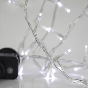 ΣΕΙΡΑ, 240 LED 3mm, 31V, 8 ΠΡΟΓΡΑΜΜΑΤΑ, ΔΙΑΦΑΝΟ ΚΑΛΩΔΙΟ, ΛΕΥΚΟ LED ΑΝΑ 5cm, ΙΡ44 600-11580