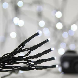 ΣΕΙΡΑ, 700 LED 3mm, 31V, 8 ΠΡΟΓΡΑΜΜΑΤΑ, ΠΡΑΣΙΝΟ ΚΑΛΩΔΙΟ, ΛΕΥΚΟ LED ΑΝΑ 5cm, ΙΡ44 600-11590