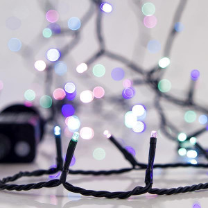 ΣΕΙΡΑ, 700 LED 3mm, 31V, 8 ΠΡΟΓΡΑΜΜΑΤΑ, ΠΡΑΣΙΝΟ ΚΑΛΩΔΙΟ, OPAL ΧΡΩΜΑΤΙΣΤΟ LED ΑΝΑ 5cm, ΙΡ44 600-11594