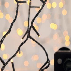ΣΕΙΡΑ, 900 LED 3mm, 31V, 8 ΠΡΟΓΡΑΜΜΑΤΑ, ΠΡΑΣΙΝΟ ΚΑΛΩΔΙΟ, ΘΕΡΜΟ ΛΕΥΚΟ LED ΑΝΑ 5cm, ΙΡ44 600-11596
