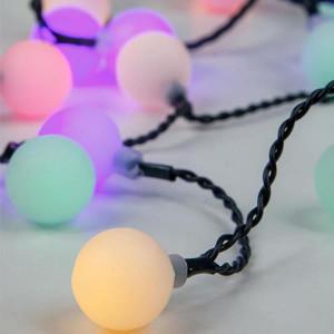 ΣΕΙΡΑ, 80 LED, 31V, ΑΣΠΡΕΣ ΜΠΑΛΙΤΣΕΣ, ΜΕ ΜΕΤΑΣΧΗΜΑΤΙΣΤΗ, ΠΡΑΣΙΝΟ ΚΑΛΩΔΙΟ, ΧΡΩΜΑΤΙΣΤΟ LED, Φ2,5cm,  ANA 8cm 600-11907