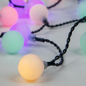 ΣΕΙΡΑ, 80 LED ΑΝΑ 10cm, 31V, ΛΕΥΚΕΣ ΜΠΑΛΕΣ Φ 2cm, ΕΠΕΚΤΑΣΗ ΕΩΣ 3, ΠΡΑΣΙΝΟ ΚΑΛΩΔΙΟ, RGB LED, IP44 600-11913