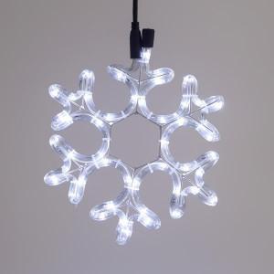 ΧΙΟΝΟΝΙΦΑΔΑ, ΛΕΥΚΗ, LED, ΜΕ 2m ΦΩΤ/ΝΑ, 25x25cm,IP44 600-20008
