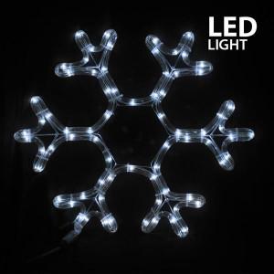 ΧΙΟΝΟΝΙΦΑΔΑ, ΛΕΥΚΗ, LED, ΜΕ 3m. ΦΩΤ/ΝΑ, 38x36cm, IP44 600-20160