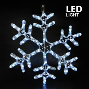 ΧΙΟΝΟΝΙΦΑΔΑ, ΛΕΥΚΗ, LED, ΜΕ 6m. ΦΩΤ/ΝΑ, 59x50cm, IP44 600-20165