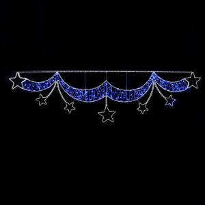 ΜΠΟΡΝΤΟΥΡΑ ΜΠΛΕ, ΜΕ ΛΕΥΚΑ ΑΣΤΕΡΙΑ, LED ΦΩΤ/ΝΑ 21m, 350x92cm, IP44 600-23018