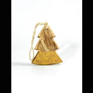 ΔΕΝΤΡΑΚΙ, ΞΥΛΙΝΟ ΚΡΕΜΑΣΤΟ, ΜΕ ΧΡΥΣΟ, 10x7,5x1cm. 600-40471