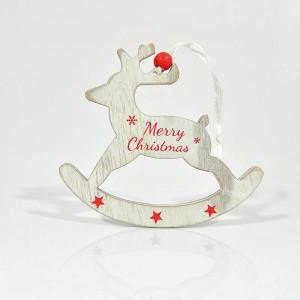 ΤΑΡΑΝΔΟΣ, ΞΥΛΙΝΟΣ ΜΕ ΚΟΚΚΙΝΟ MERRY CHRISTMAS,19x12x0,5cm. 600-40514