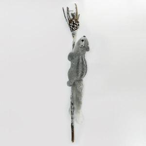 ΣΚΙΟΥΡΑΚΙ ΓΚΡΙ ΣΕ ΚΛΑΔΙ, 52cm 600-43663
