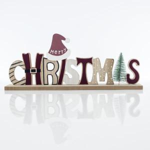 ΕΠΙΓΡΑΦΗ CHRISTMAS, ΞΥΛΙΝΗ, 45x6x18cm 600-43917