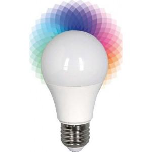 ΛΑΜΠΑ LED SMART BULB 6W Ε27 2700K+RGB 220-240V Bluetooth ΜΕ APP ΓΙΑ ANDROID KAI IOS