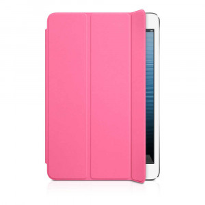 Smart Case for Apple iPad Mini/Mini 2 Black Pink - Front Cover 04151