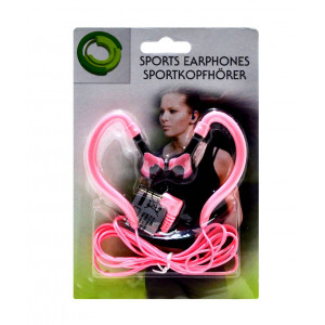 Sport Earphone Ancus 3.5 mm Pink for mp3, mp4 and Sound Devices 05744