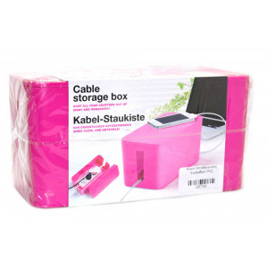 Cable Storage Box Pink 05750