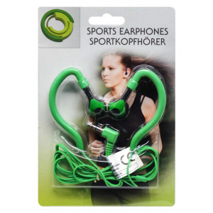 Sport Earphone Ancus 3.5 mm Green for mp3, mp4 and Sound Devices 05756