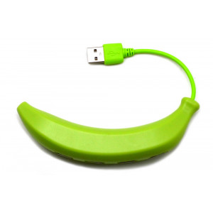 USB 2.0 Hub Banana 4 Port Green 08802