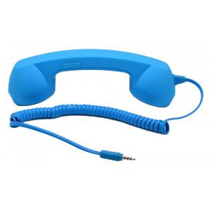 Ακουστικό MsPhone Retro 3.5 mm για όλα τα Κινητά Τηλέφωνα Μπλέ 08810