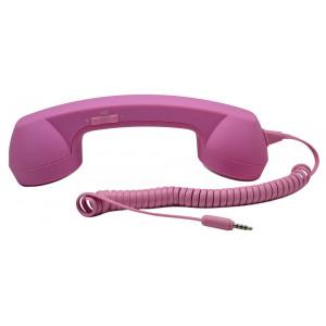 Ακουστικό MsPhone Retro 3.5 mm για όλα τα Κινητά Τηλέφωνα Ρόζ 08813