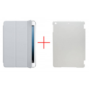 Smart Case for Apple iPad Air White - Front Cover + Faceplate Case White 08817