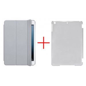 Smart Case for Apple iPad Air Grey - Front Cover + Faceplate Case Smoke 10023