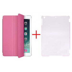 Smart Case for Apple iPad Air Pink - Front Cover + Faceplate Case Pink 10024